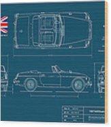 Mgb Mk.2 Roadster Wood Print by Douglas Switzer