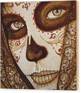 Mi Amor Detras Del Velo Wood Print by Al  Molina