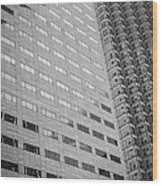 Miami Architecture Detail 1 - Black And White Wood Print by Ian Monk