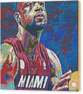 Miami Wade Wood Print by Maria Arango