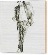 Michael Jackson Billy Jean Wood Print by David Lloyd Glover