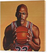 Michael Jordan 2 Wood Print by Paul Meijering