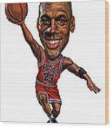 Michael Jordan Wood Print by Art