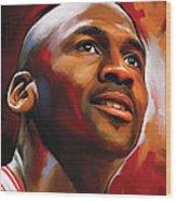Michael Jordan Artwork 2 Wood Print by Sheraz A