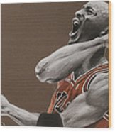 Michael Jordan - Chicago Bulls Wood Print by Prashant Shah