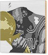 Michael Jordan Wood Print by Mike Maher
