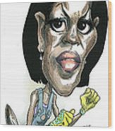 Michelle Obama Wood Print by Taylor Jones