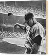 Mickey Mantle Wood Print by Gianfranco Weiss