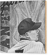 Mickey Mantle Wood Print by Scott  Hubbert