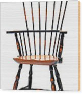 Miniature Windsor Armchair  Wood Print by Olivier Le Queinec