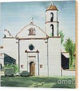 Mission San Luis Rey Colorful II Wood Print by Kip DeVore