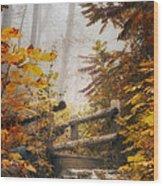 Misty Footbridge Wood Print by Scott Norris