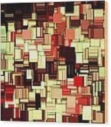 Modern Abstract Art Xvii Wood Print by Lourry Legarde
