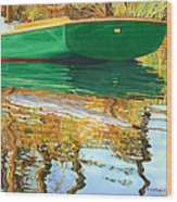 Moment Of Reflection Xi Wood Print by Marguerite Chadwick-Juner