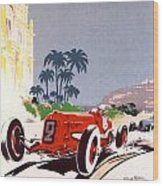 Monaco Grand Prix 1934 Wood Print by Georgia Fowler