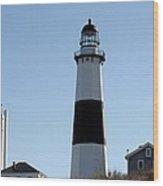 Montauk Lighthouse As Seen From The Beach Wood Print by John Telfer