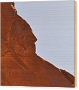 Monument Valley Indian Chief Wood Print by Christine Till