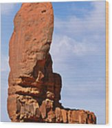 Monument Valley - The Thumb Wood Print by Christine Till