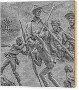 Monuments On The Gettysburg Battlefield Ver 2 Wood Print by Randy Steele