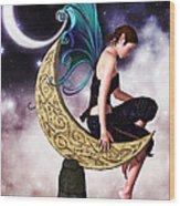 Moon Fairy Wood Print by Alexander Butler