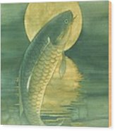 Moon Koi Wood Print by Robert Hooper