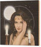 Moon Priestess Wood Print by John Silver