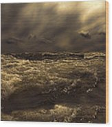 Moonlight On The Water Wood Print by Bob Orsillo