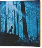 Moonlight Serenade Wood Print by C Steele