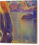 Morning Glow Wood Print by Robert Hooper