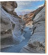 Mosaic Canyon Twilight Wood Print by Adam Jewell