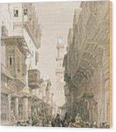 Mosque El Mooristan Wood Print by David Roberts