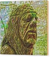 Moss Man - 02 Wood Print by Gregory Dyer