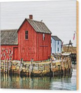Motif Number 1 Rockport Ma Wood Print by Jack Schultz