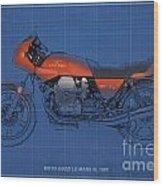 Moto Guzzi Le Mans IIi 1981 Vintage Style Wood Print by Pablo Franchi