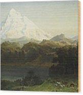 Mount Hood In Oregon Wood Print by Albert Bierstadt