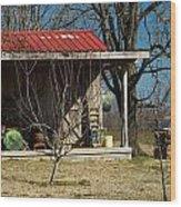 Mountain Cabin In Tennessee 1 Wood Print by Douglas Barnett