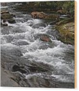 Mountain Stream Wood Print by Skip Willits
