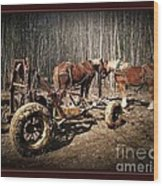 Mud Season - With Border Wood Print by Joy Nichols