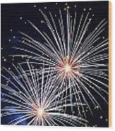 4th Of July Fireworks 3 Wood Print by Howard Tenke