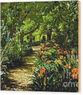 Muratie Gardens Wood Print by Rick Bragan