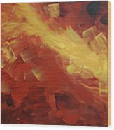 Muse In The Fire 1 Wood Print by Sharon Cummings