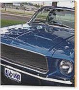 Mustang Classic Wood Print by Bobbee Rickard