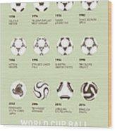 My Evolution Soccer Ball Minimal Poster Wood Print by Chungkong Art