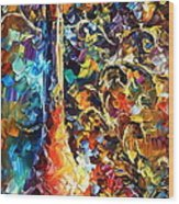 My Old Thoughts 2 Wood Print by Leonid Afremov
