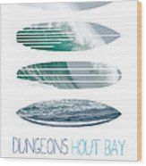 My Surfspots Poster-4-dungeons-cape-town-south-africa Wood Print by Chungkong Art