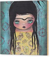 My Yellow Dress Wood Print by  Abril Andrade Griffith