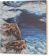 Mysterious Water Wood Print by Cheryl Pettigrew