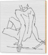 Naked-men-art-15 Wood Print by Gordon Punt