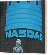 Nasdaq Wood Print by Scott Listfield