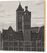 Nashville's Union Station Wood Print by Dan Sproul